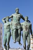 Classic ancient Greek statue at Rhodes island