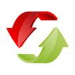 roter und grüner Pfeil