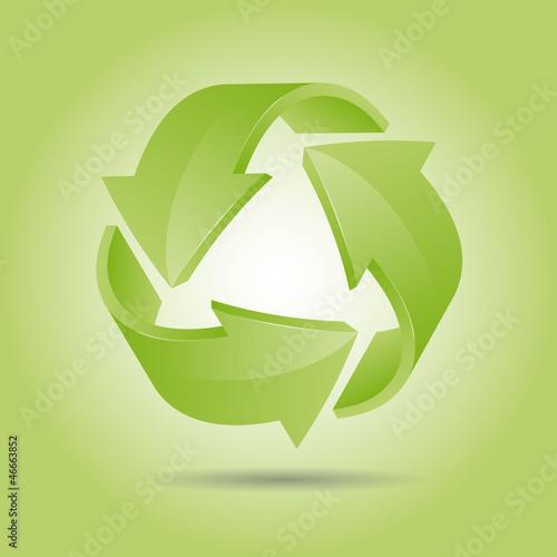 Recycling/ grüner Hintergrund