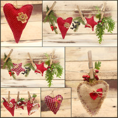 collage of christmas decoration