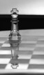 King chess piece - business concept / card - space for text.
