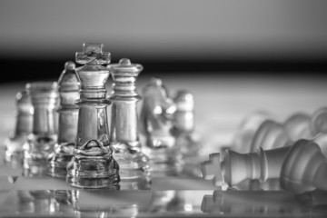 Chess Pieces - business concept - survive, competition, strong