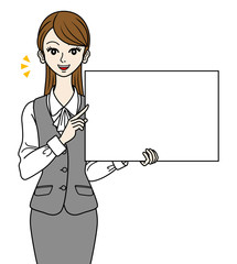 Office Lady With Whiteboard -speak-