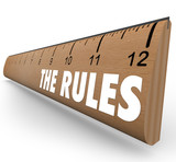 The Rules Ruler Guidelines Regulations Laws Limits poster