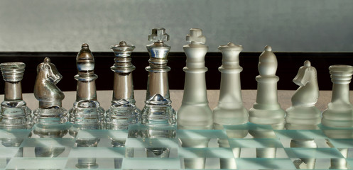 Chess Pieces, board: business concept - team, success