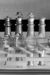 Chess Pieces - Business Concept - CEO, director, management.