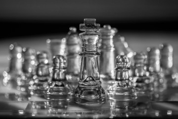 Business Concept - chess pieces - team, company, strategy