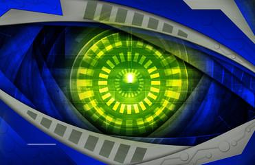 abstract blue grunge  robot eye