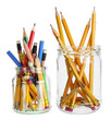 Pencils in Glass Jars