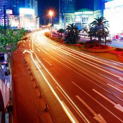 Shanghai street at night