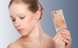concept skincare . Skin of beauty young woman with redness, skin