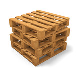 Four pallets stack