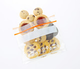 Mix eatable cookies in a safety zipper bag poster