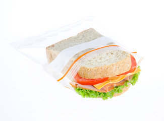 keep your sandwiches always fresh in the zipper bag