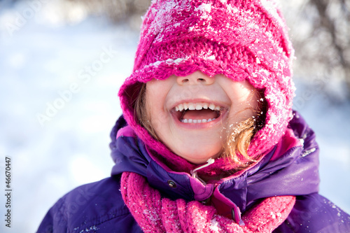 Little girl in Winter