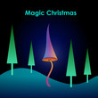 Magic christmas card