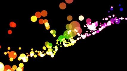 luminous bokeh background loop