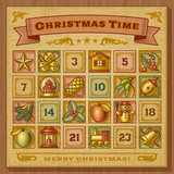 Vintage Christmas Advent Calendar - 46673034