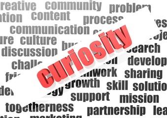 Curiosity concept