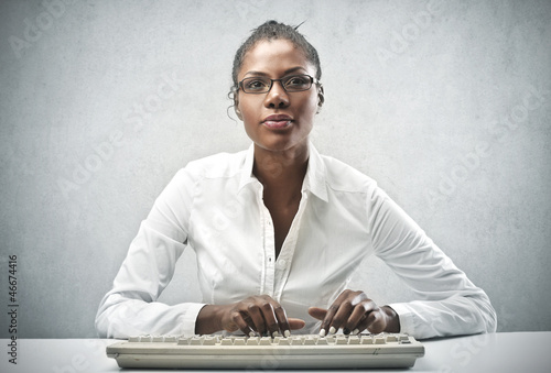 Black Office Worker