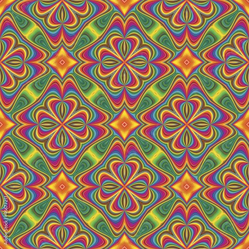 Pop art vector pattern in funky disco style