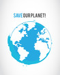 grunge save the planet poster