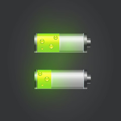 User interface battery charge level indicator