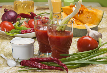 Tomato Juice and group other vegetables