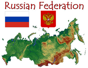 Russia Asia Europe national emblem map symbol motto