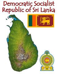 Sri Lanka Asia national emblem map symbol motto