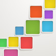 Abstract background of color boxes. Template for a text