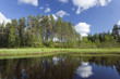 Summer lake in Sweden, Wide angle photo