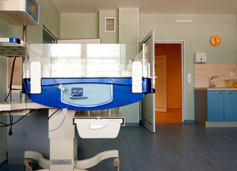 Therapeutic and diagnostic rooms with medical equipment