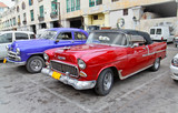 Classic american cars in Havana. poster