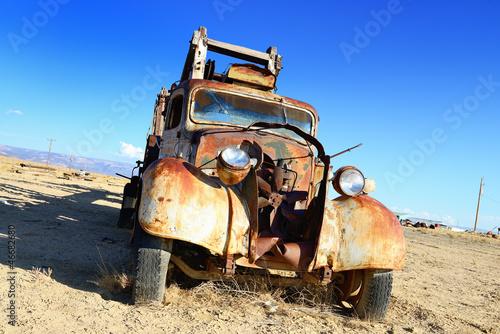 vintage truck abandoned
