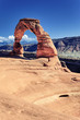 Sunset on famous Delicate Arch