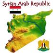 Syria Asia national emblem map symbol motto