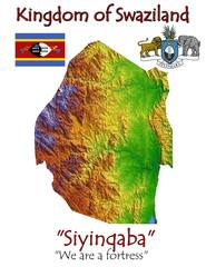 Swaziland Africa national emblem map symbol motto