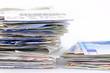 Kaufbelege und Banknoten