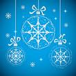 Christmas balls with snowflakes.