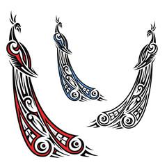 Tribal peacock illustration