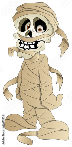 Cartoon Mummy - Vector Illustration