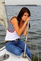 walking on a yacht