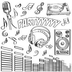 Sketched deejay symbols