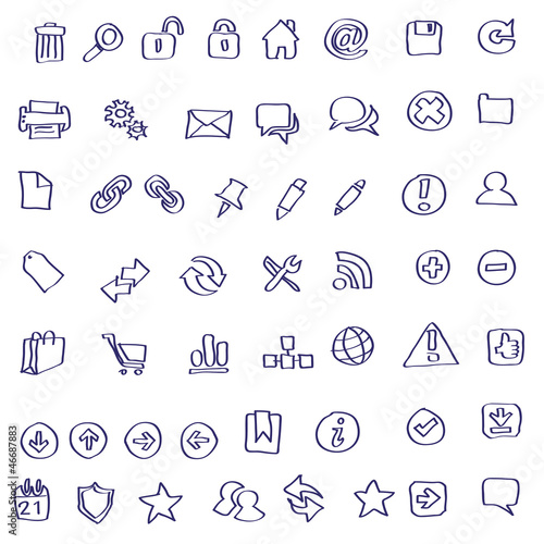 Vector Web icon doodles