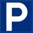 Schild blau - Parkplatz