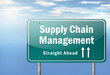 """Highway Signpost """"Supply Chain Management"""""""
