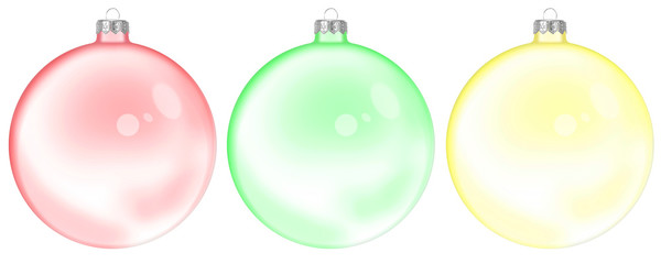 Christmas Set Of Glass Ball