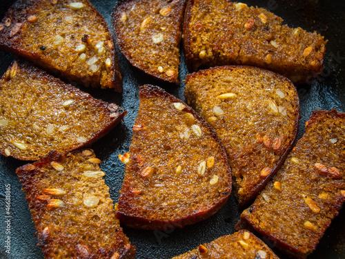 Fried corn bread