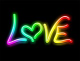 Love Psichedelic Neon Light-Amore Psichedelico Luminoso